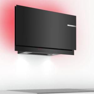Bosch Wandesse Dunstabzug Design Klarglas schwarz LED Beleuchtung DWF97KS69
