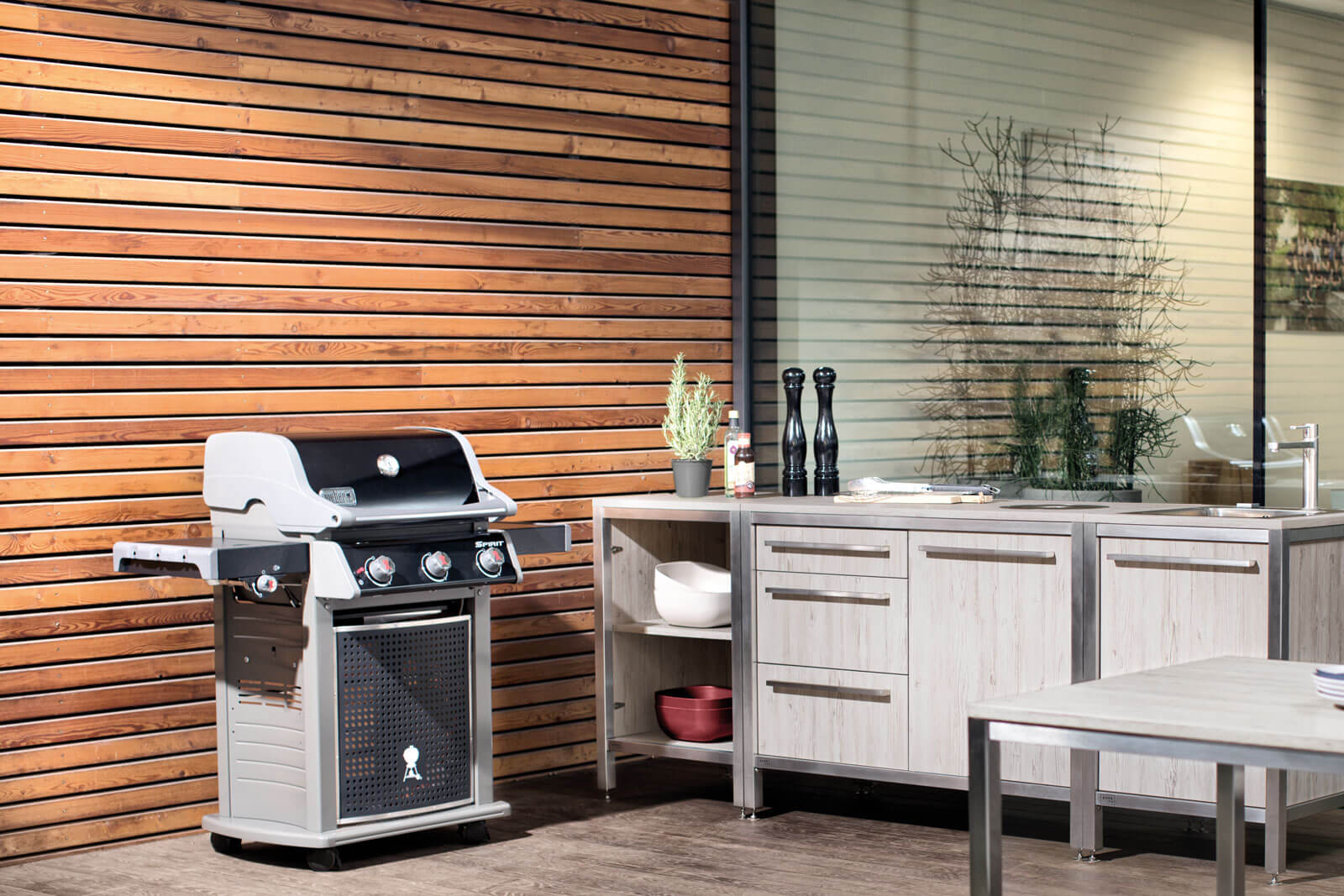 Burnout Outdoor Küchen Modul Griffstangen Küchenspüle
