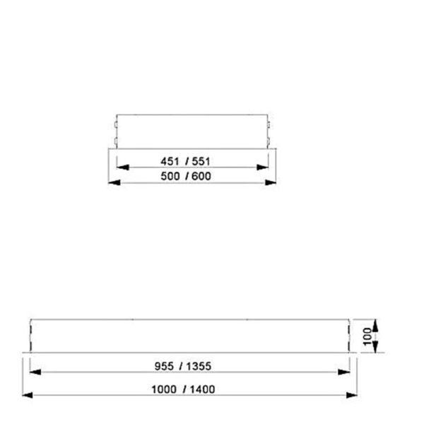 Franke Galaxy Detailzeichnung Deckenhaube Einbau Dunstabzug Edelstahl 110.0250.356