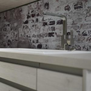 Küchenspüle aus Keramik in weiß von Villeroy und Boch Edelstahl Armatur