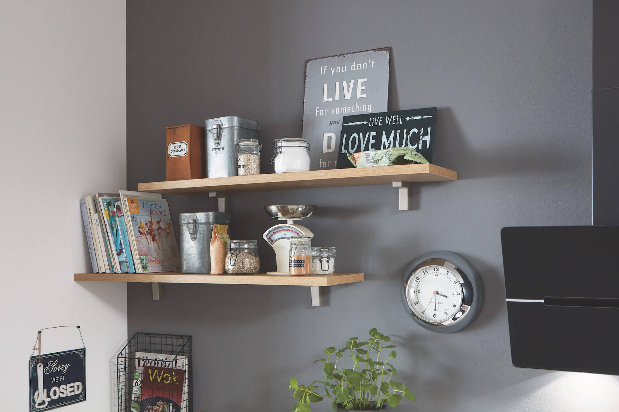 Nobilia Elements Moderne Küche Oberschränke Regale