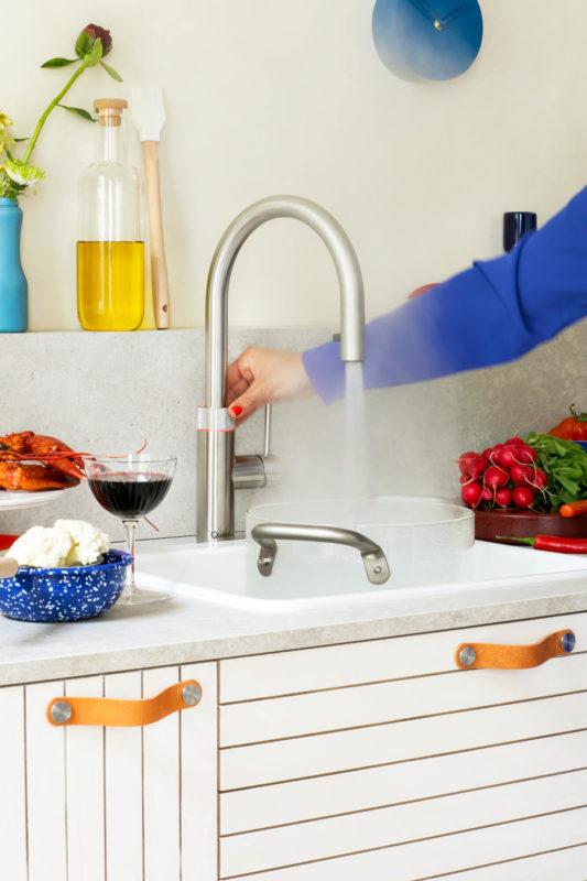 Quooker Armatur 100 Grad Edelstahl kochendes Wasser